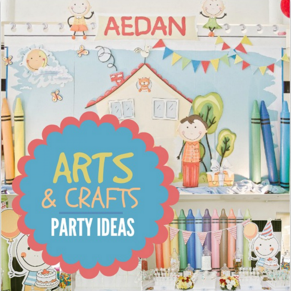 Colorful arts and crafts birthday party spaceships and for Craft birthday party places