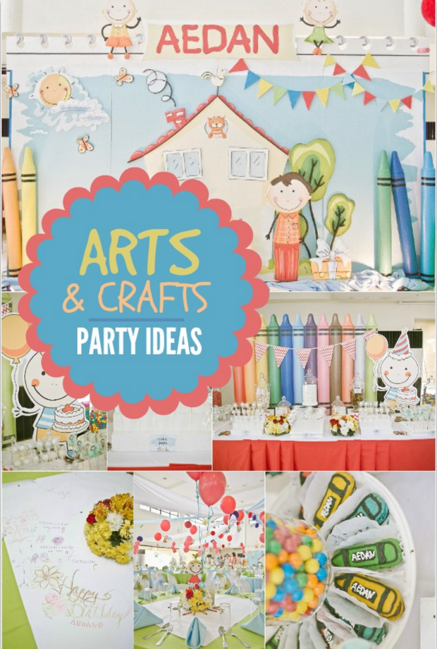 arts and crafts birthday ideas colorful arts and crafts birthday spaceships and 5885