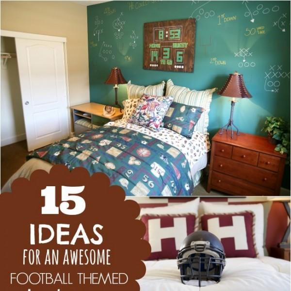 15 ideas for a football themed boys bedroom spaceships for Football themed bedroom ideas