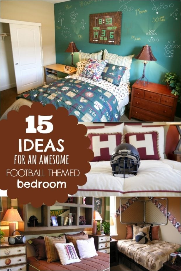 15 ideas for a football themed boys bedroom spaceships for Themed bedrooms for boys