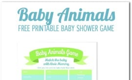 Baby Animal Free Printable Baby Shower Game