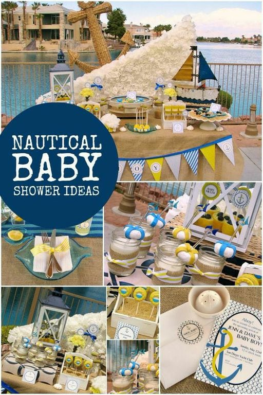 baby boy nautical baby shower party