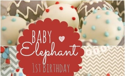 Baby Elephant Themed First Birthday Party Spaceships And
