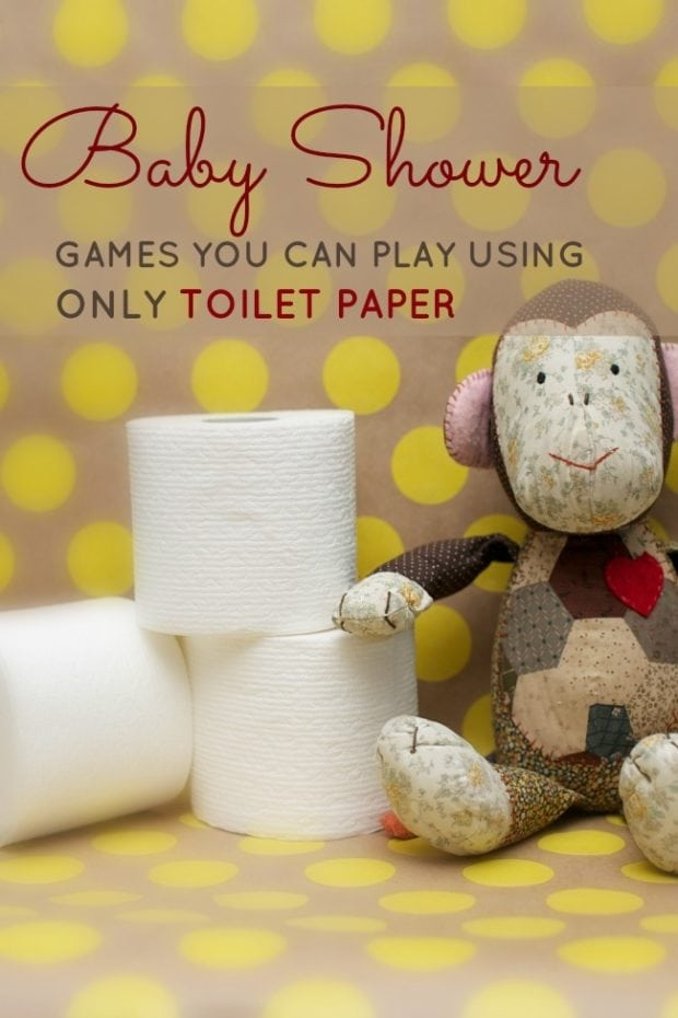 Baby shower games you can play with just a roll of toilet for Baby clothesline decoration baby shower