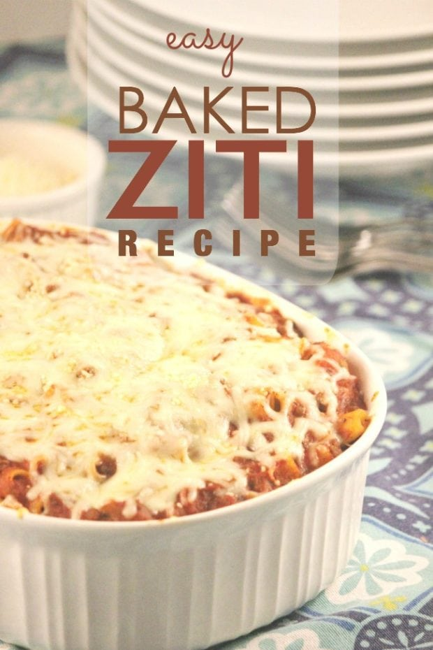 Baked Ziti Recipe Cover