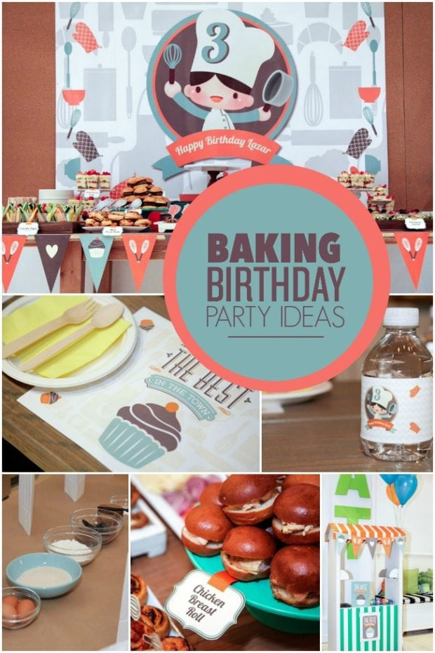 The Recipe For A Boy S Baking Themed 3rd Birthday Party