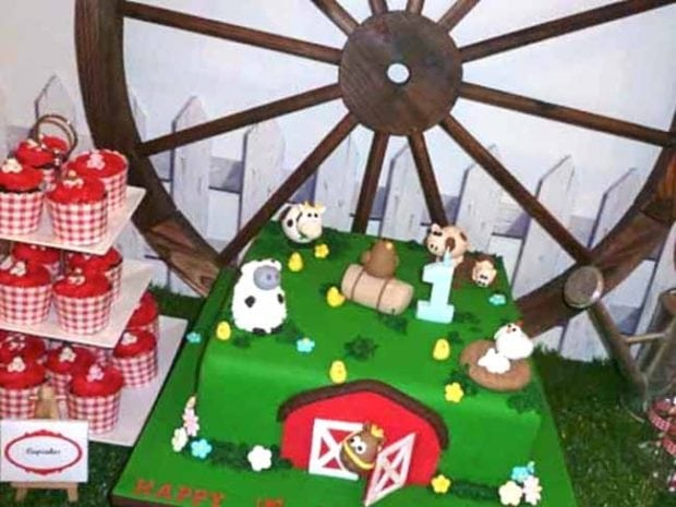 Cake Decorating Greensborough : Boy s Farm Birthday Party {Barn Bash Ideas} Spaceships ...