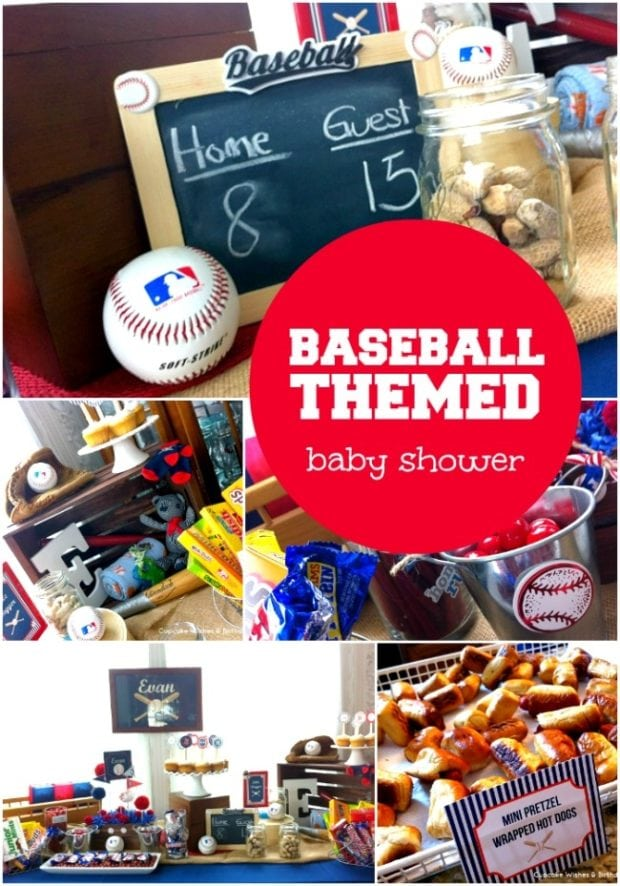 baseball themed boy baby shower ideas spaceships and laser beams