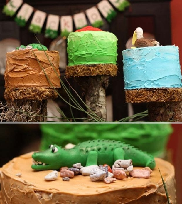Alligator Themed Boy S First Birthday Party Spaceships