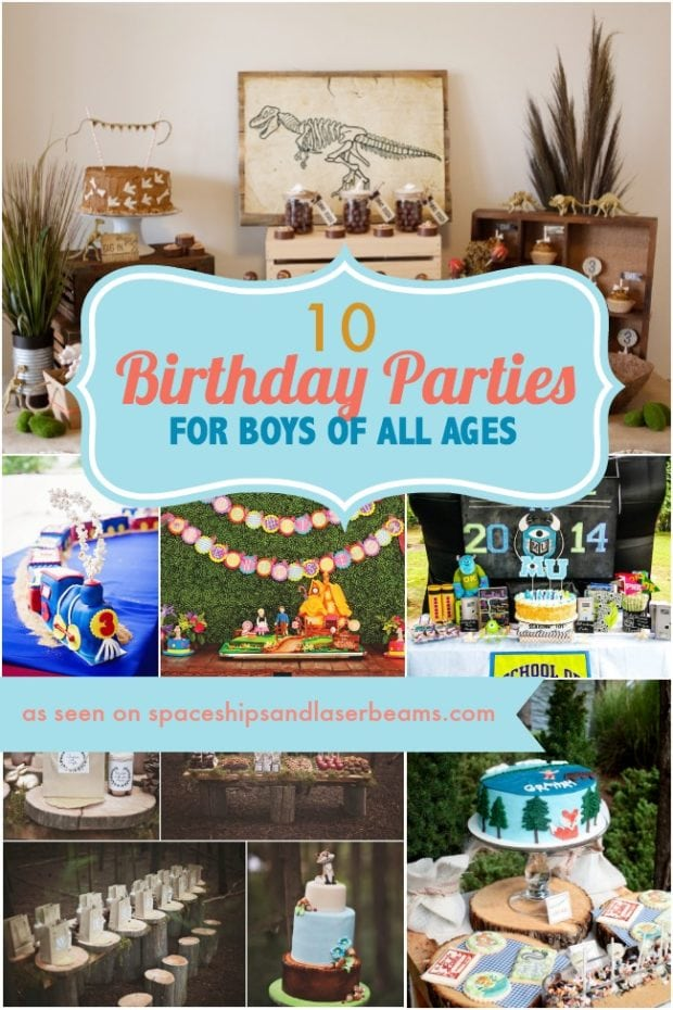 10 Birthday Parties For Boys Of All Ages Spaceships And