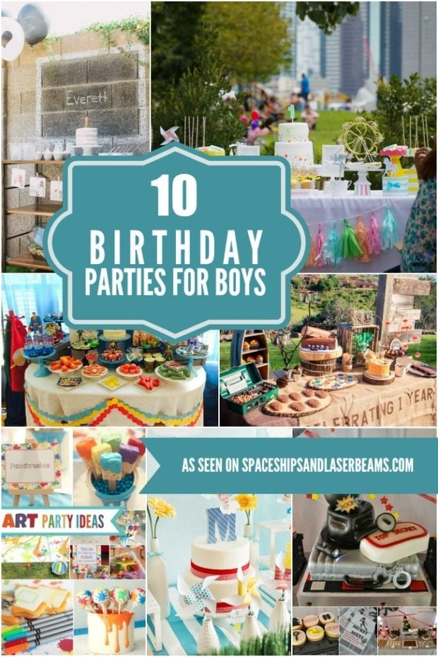10 Birthday Party Ideas Perfect For Boys Spaceships And