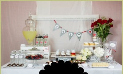 Black And White Boy Baby Shower Ideas 2