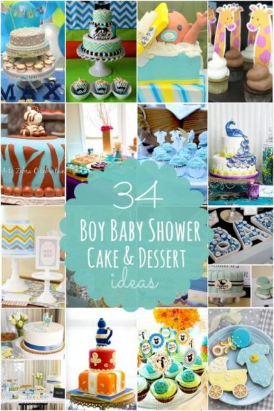Boy Baby Shower Cake Dessert Ideas