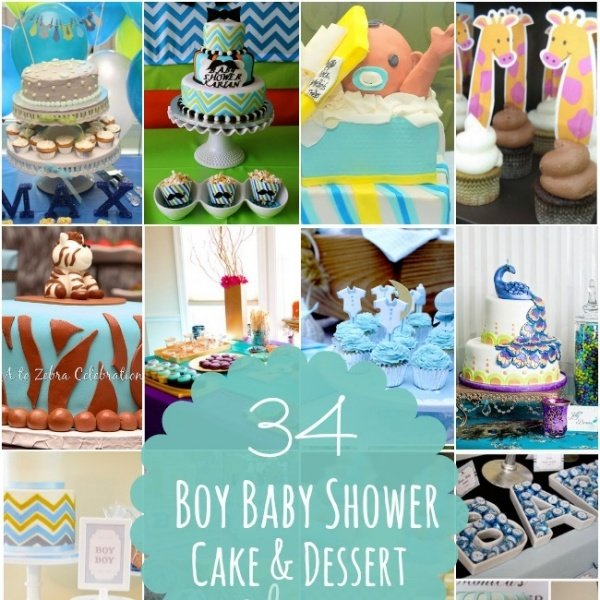 34 Boy Baby Shower Cake & Dessert Ideas