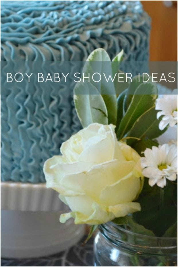 Baby Shower Flowers Boy