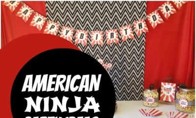 An American Ninja Warrior Themed Birthday Party