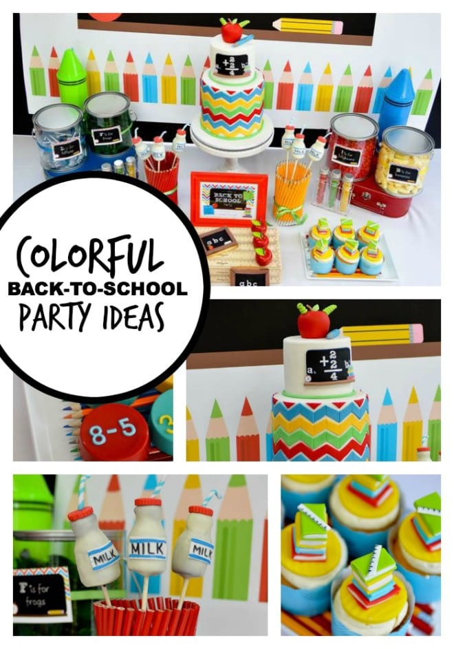 Colorful Back to school party ideas