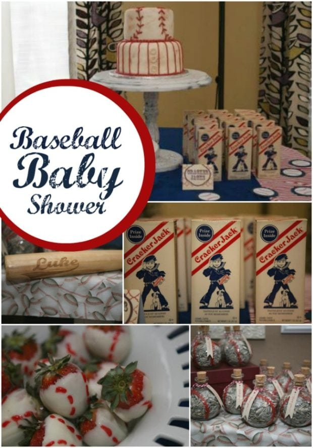 boy s baseball themed baby shower spaceships and laser beams