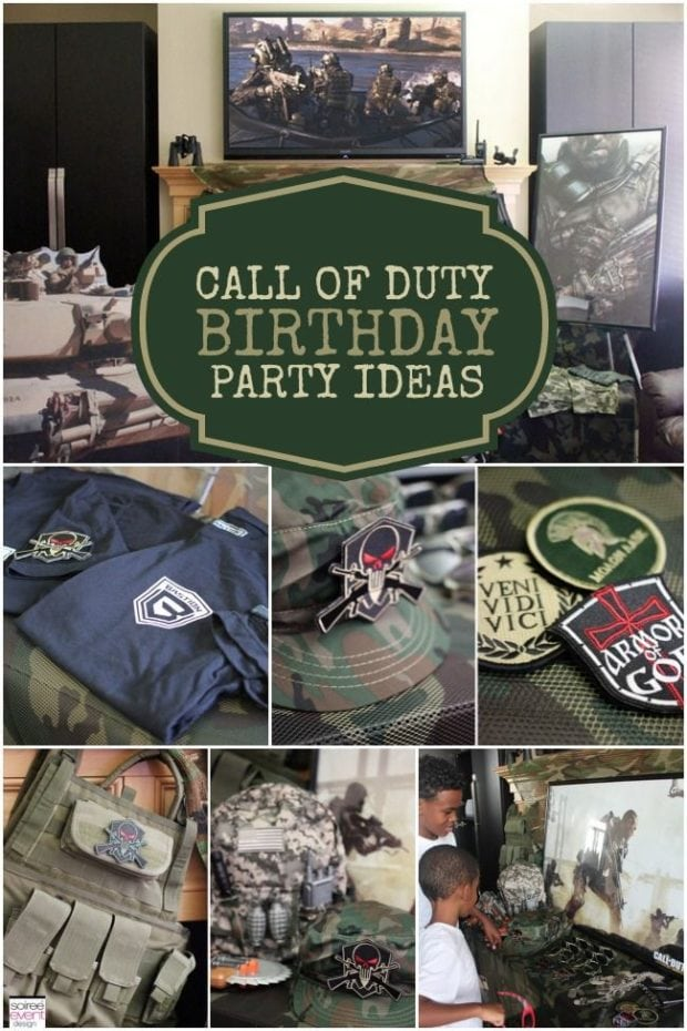 A Call Of Duty Inspired Video Game Party Spaceships And