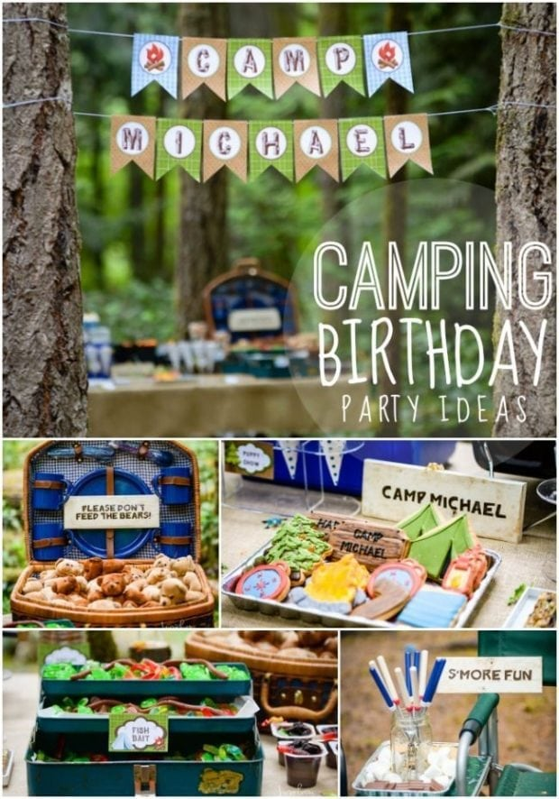 Camping Themed Boys Birthday Party Spaceships And Laser