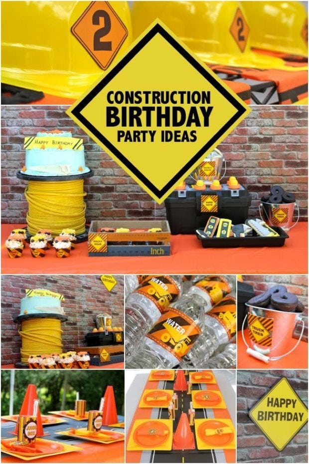 A Boy S Construction Themed Birthday Party Spaceships