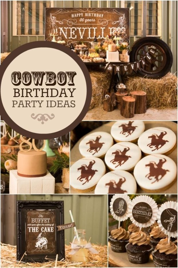 Country And Western Cowboy Themed 80th Birthday Party