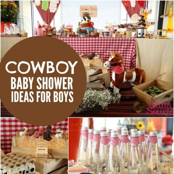 bouncing baby buckaroo cowboy themed baby shower spaceships and