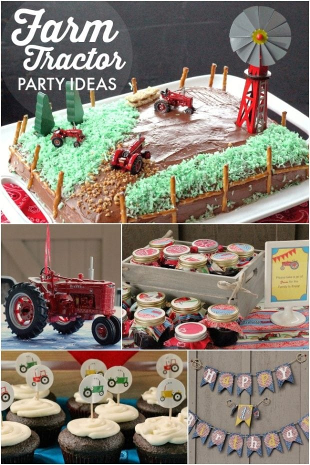 A Boy S Tractor On The Farm First Birthday Party