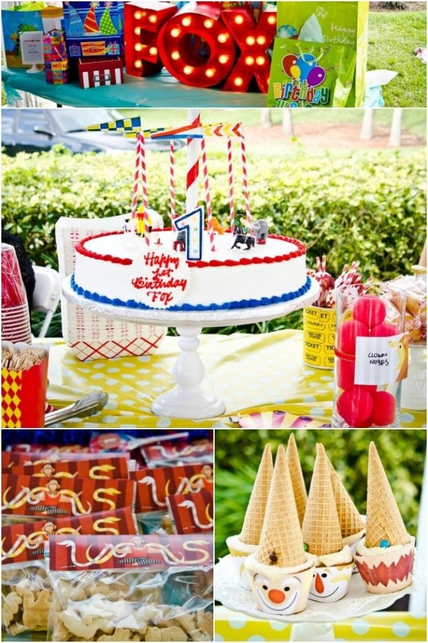 Circus Themed Boys First Birthday Party Spaceships And