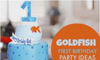 Boys Goldfish First Birthday Party Spaceships and Laser Beams