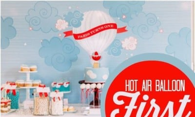 Boys Hot Air Balloon First Birthday Party Ideas1