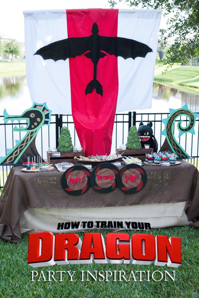 Boys How To Train Your Dragon Birthday Party Ideas