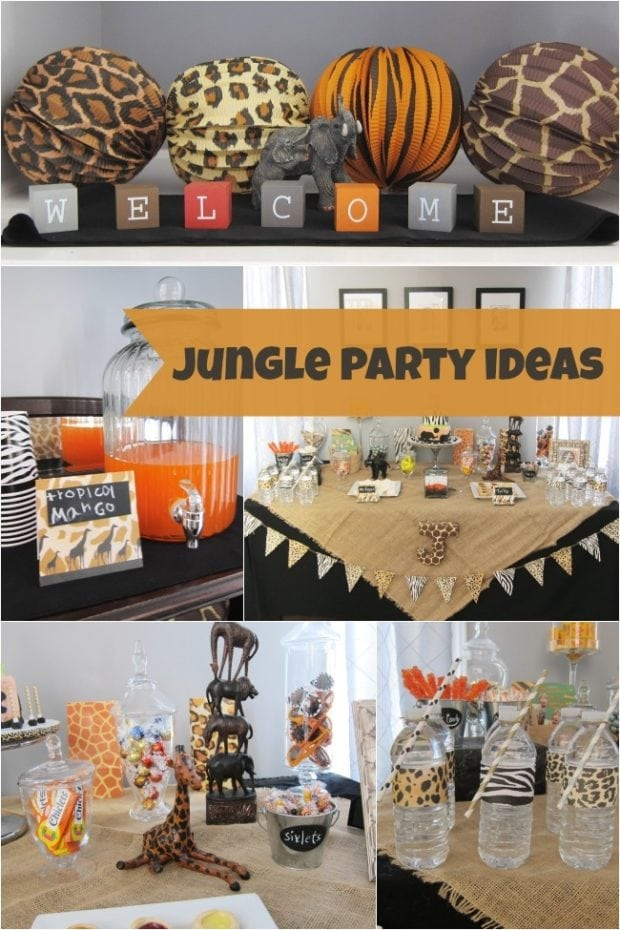 Boy S Jungle Safari Themed 7th Birthday Party Spaceships