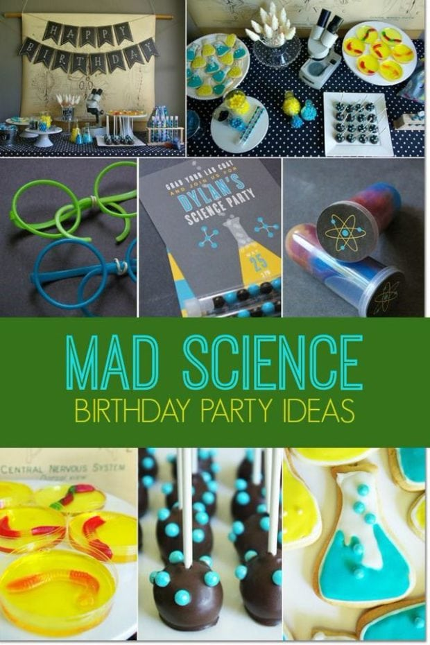 Science Class Boy S Birthday Party Spaceships And Laser