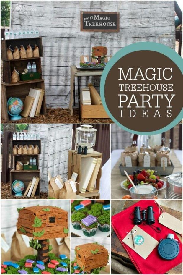 Magic Treehouse Book Themed Boy S Birthday Party