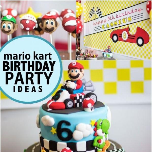 A Boy S Mario Kart Birthday Party