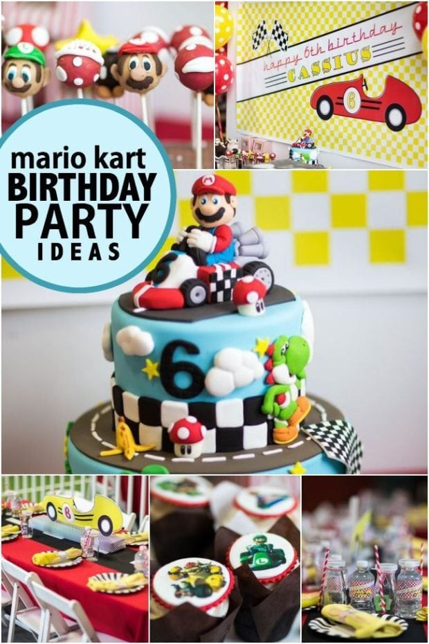 A Boy S Mario Kart Birthday Party Spaceships And Laser Beams