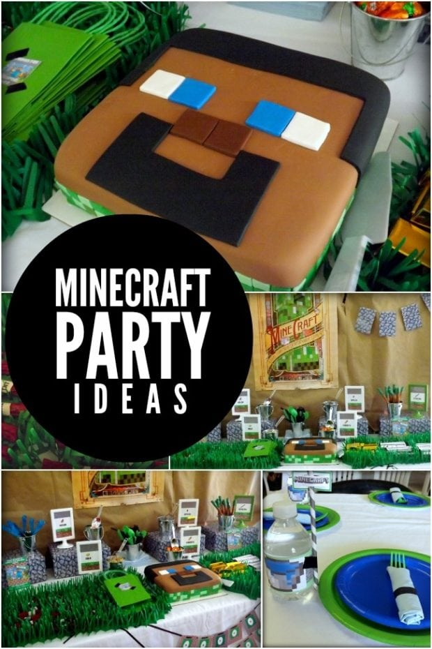 A dynamite minecraft boy birthday party spaceships and for Craft ideas for birthday parties
