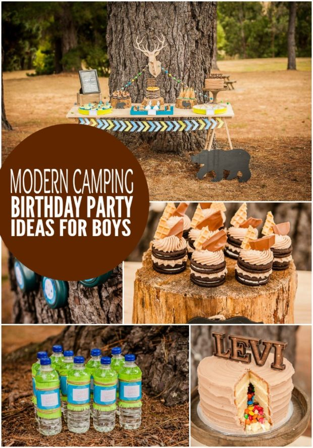Outdoor Camping Themed Birthday Party Outdoor Designs