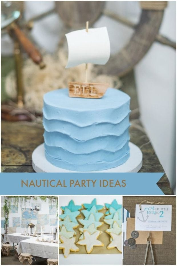Beautifully Rustic Nautical Themed 2nd Birthday Party