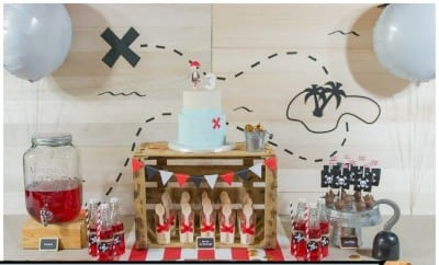 A Boy S Pirate Birthday Party Dessert Table Spaceships