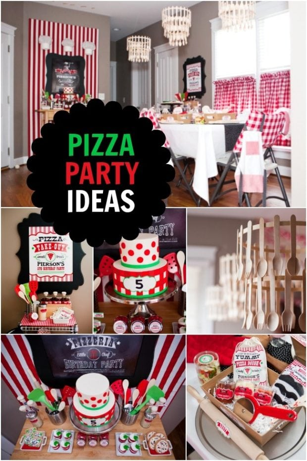 Boy S Pizzeria Themed Birthday Party Spaceships And