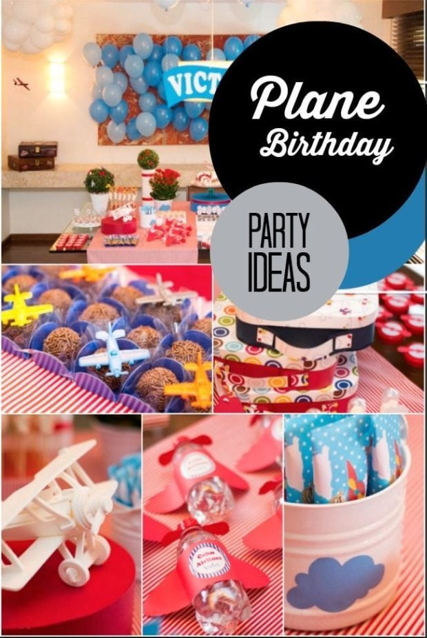 Flying High: A Plane Themed Boy's 1st Birthday Party ...