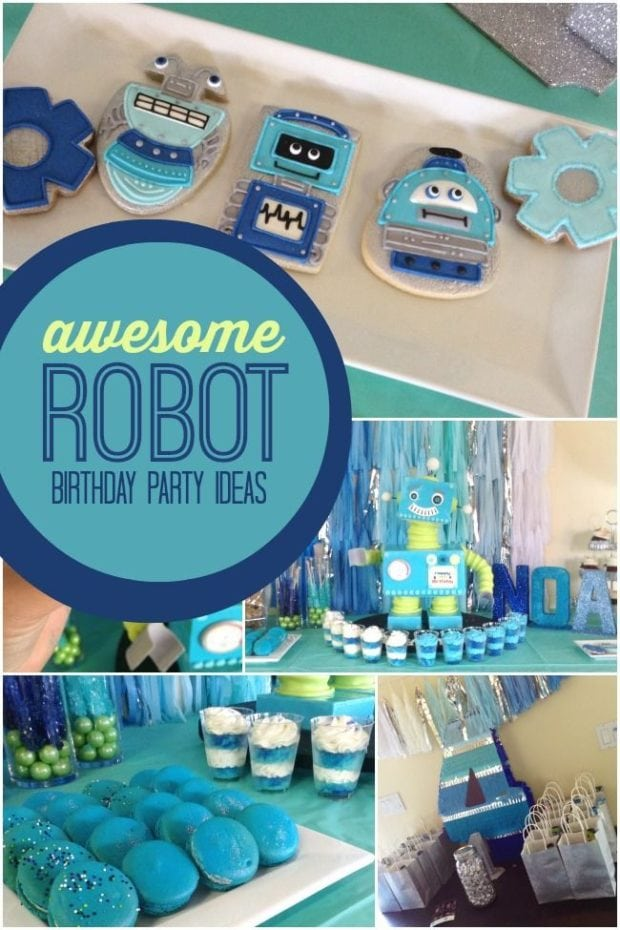 Boys Robot Birthday Party