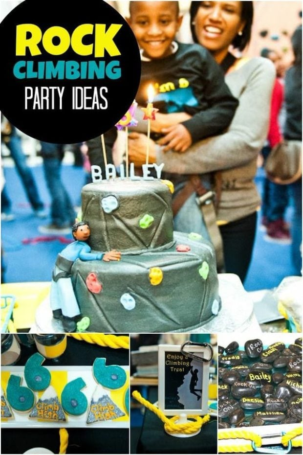 A Rock Climbing Boy S Birthday Party Spaceships And