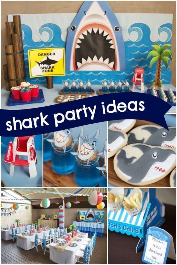 Boys Shark Birthday Party Ideas