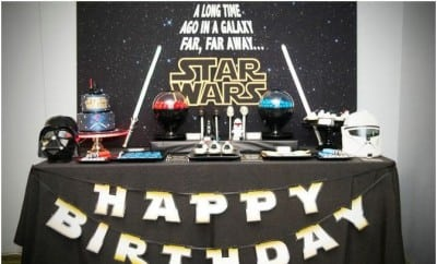 A Good Vs Evil Star Wars Dessert Table Spaceships And