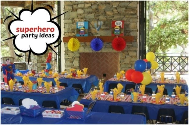 Superhero Themed Birthday Party for 4 Year Old Boys  Spaceships and ...