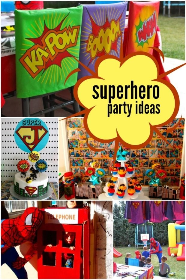 A Boy S Super Hero Birthday Party Spaceships And Laser Beams