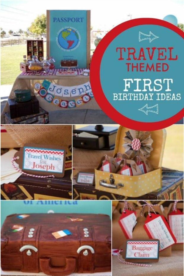 A World Traveler Boy S First Birthday Party Spaceships